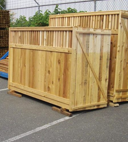 ear flat treated install dog uphill top tree posts pressure sectional pine wood privacy around sections fence