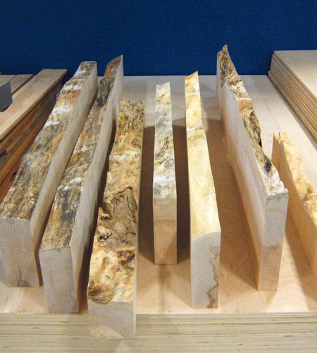 Maple live edge windsor plywood