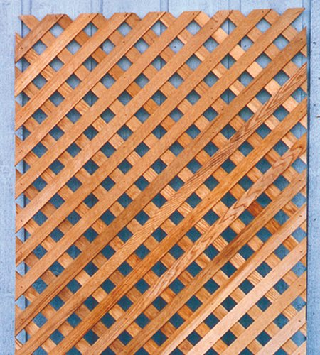 Wood Lattice Screen ~ Cedar wood lattice panels windsor plywood