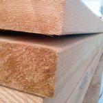 Cedar lumber Close Up End shot