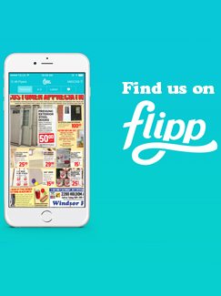 Find our ads/flyer/sales on Flipp