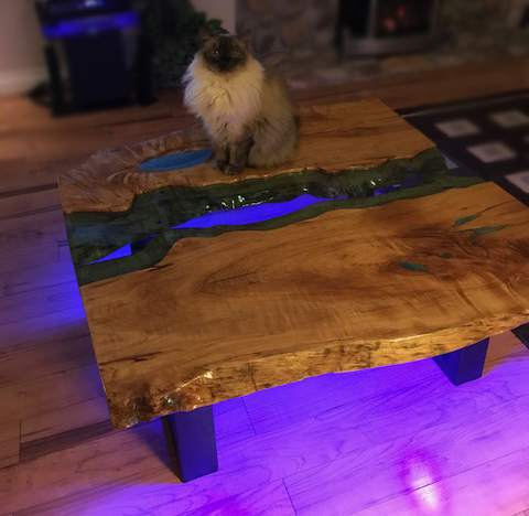 bretts maple slab river table