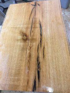 live edge red oak table
