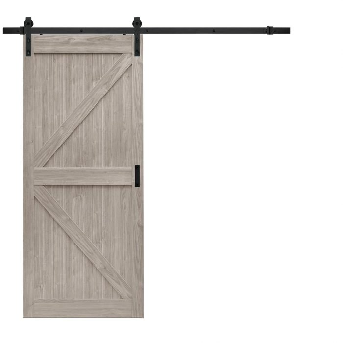 K Design Silver Oak Barn Door 187 Windsor Plywood 174
