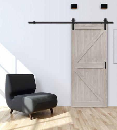 K Design Silver Oak Barn Door 187 Windsor Plywood 174