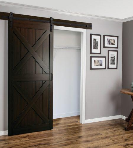 X Design Espresso Barn Door 187 Windsor Plywood 174
