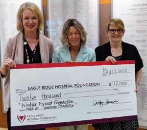 windsor plywood donates to eagle ridge hospital
