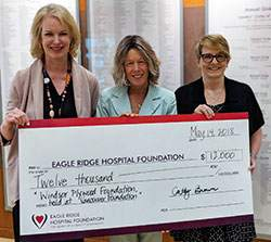 windsor plywood donates to eagle ridge hospital foundation