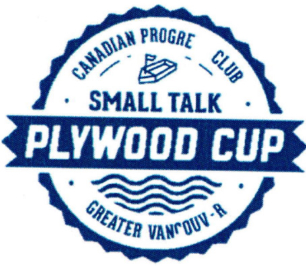 small talk plywood cup logo