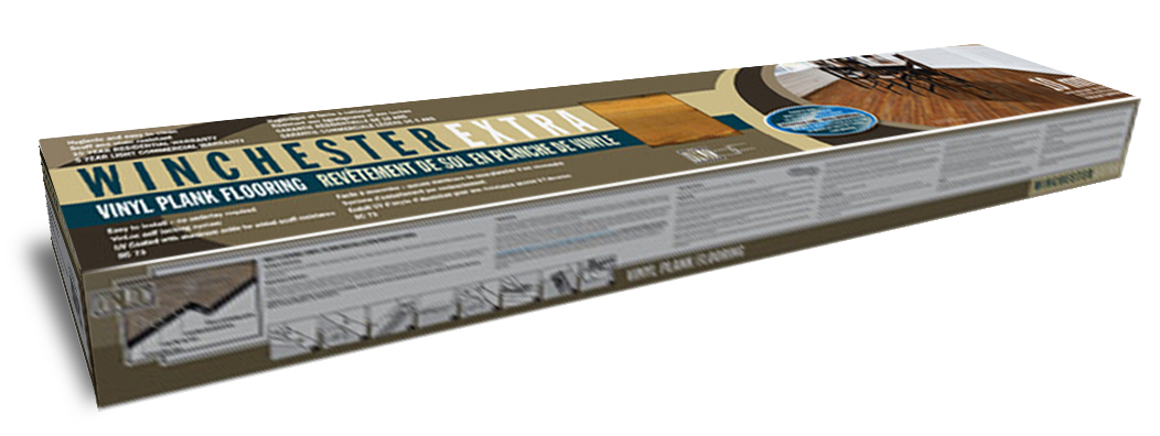 winchester vinyl plank packaged