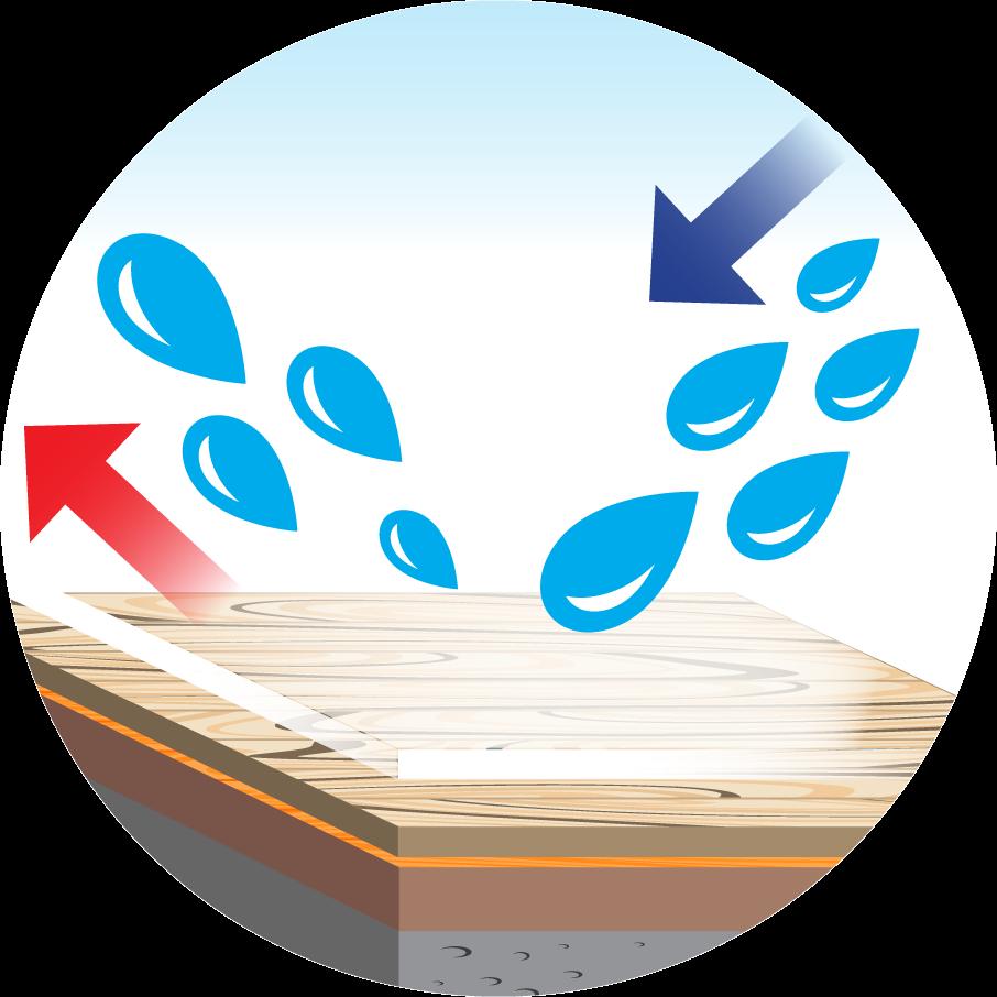 waterproof floor icon