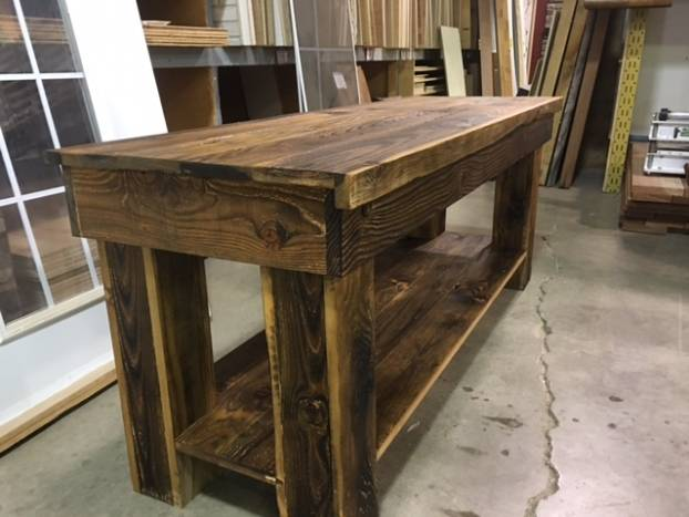 Rustic Barn Door Table Project 3